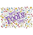 april fools day star and ribbon background vector image vector image