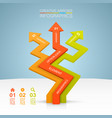 arrows business growth vector image vector image