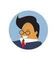 asian business man profile icon isolated chinese vector image vector image