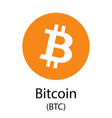 bitcoin cryptocurrency symbol vector image vector image
