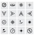 black compass icon set vector image vector image