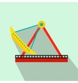 Boat carousel flat icon vector image vector image