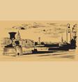 brown hand drawing st petersburg 10 vector image vector image