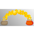 Cash purses with money vector image vector image
