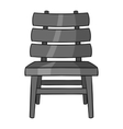 Chair icon black monochrome style vector image vector image