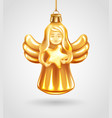 christmas angel glass toy vector image vector image