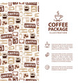 coffee menu or package concept infographics vector image vector image