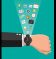 control business planning and time management vector image vector image