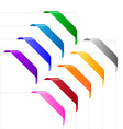 Corner ribbons in various colors vector image vector image