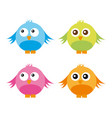 cute birds isolated over white background vector image vector image