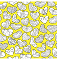 doodle hearts vector image vector image