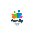 drawn abstract family logo on a white background