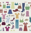 fashion cloth seamless pattern women clothes and vector image vector image
