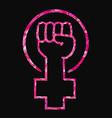 feminist slogan girl power vector image vector image