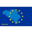 Flag of European Union with Belgium on background vector image vector image