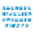Geometric shapes font alphabet Overlay transparent vector image vector image