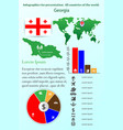 georgia infographics for presentation all vector image