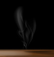 gray smoke on a black background vector image