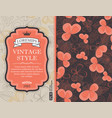 greeting card invitation with floral background vector image vector image