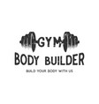 gym for body builder vintage logo design vector image