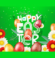 happy easter card green card with logo vector image