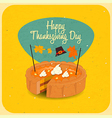 Happy Thanksgiving pie vector image vector image