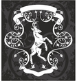 Heraldic deer in a frame vector image vector image