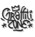 hip hop related tag graffiti influenced label sign vector image vector image