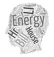 house energy ll hr text background wordcloud vector image vector image