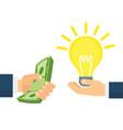 idea and money vector image