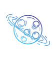 line uranus planet with his rings in the galaxy vector image vector image