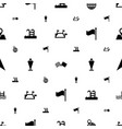 location icons pattern seamless white background vector image vector image
