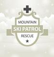 logotype mountain ski patrol rescue vector image vector image