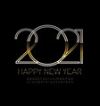 luxury greeting card happy new year 2021 vector image vector image