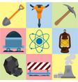mining energetics flat icons industry energetics vector image