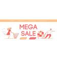 modern cartoon flat characters customers buyer vector image