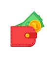 money in your wallet vector image vector image