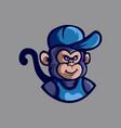 monkey cartoon logo vector image vector image