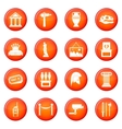 Museum icons set vector image vector image