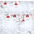 new year backgrounds with white christmas balls vector image vector image