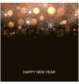 New year winter background vector image vector image