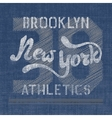 New York athletics label vector image