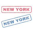 new york textile stamps vector image