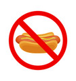 no fastfood sign vector image