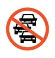 no heavy car and traffic jam icon symbol vector image