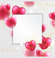 red valentines hearts greeting card vector image vector image