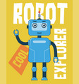 robot explorer for graphic t-shirt and other uses vector image