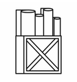 Rolls of white paper in a wooden box icon vector image vector image