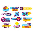 sale tags retail sales stickers promotion price vector image vector image