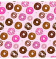 Seamless pattern of assorted donut vector image vector image